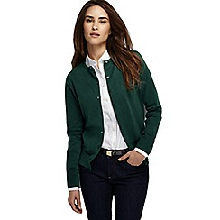 Lands' End - Green women's tall long sleeve supima fine gauge cardigan