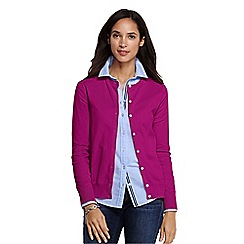 Lands' End - Pink women's tall long sleeve supima fine gauge cardigan