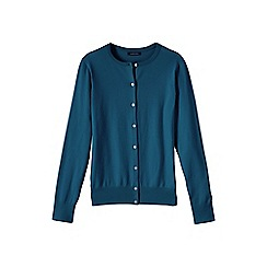 Lands' End - Blue women's tall long sleeve supima fine gauge cardigan