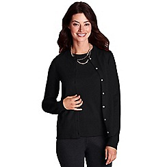 Lands' End - Black cashmere cardigan