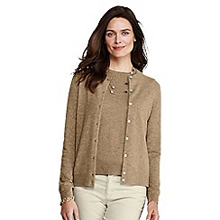 Lands' End - Beige cashmere cardigan