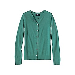 Lands' End - Green women's petite classic cashmere cardigan