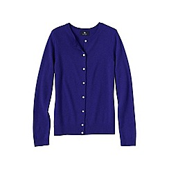 Lands' End - Purple women's petite classic cashmere cardigan