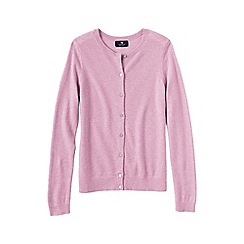 Lands' End - Pale pink women's petite classic cashmere cardigan