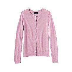 Lands' End - Pale pink women's petite classic cashmere cardigan
