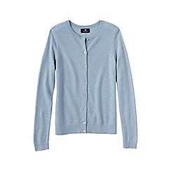 Lands' End - Pale blue women's plus cashmere crew neck cardigan