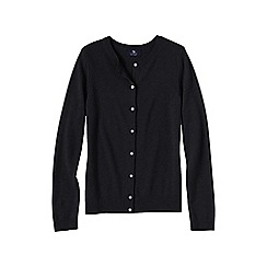 Lands' End - Black women's plus cashmere crew neck cardigan