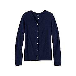 Lands' End - Blue women's plus cashmere crew neck cardigan
