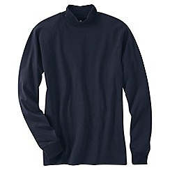 Lands' End - Blue men's super tee polo neck
