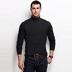 Lands' End - Black super tee rollneck