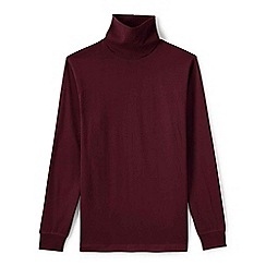 Lands' End - Red tall super tee rollneck