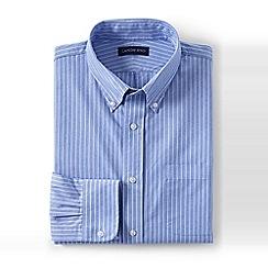Lands' End - Blue tailored fit long sleeve poplin shirt