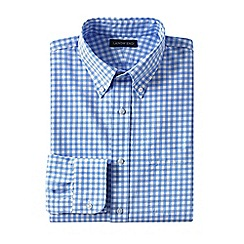 Lands' End - Blue regular traditional fit button-down poplin shirt