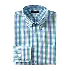 Lands' End - Green regular traditional fit button-down poplin shirt
