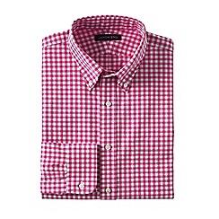 Lands' End - Pink regular traditional fit button-down poplin shirt