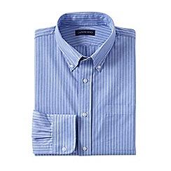 Lands' End - Blue regular traditional fit button-down poplin shirt