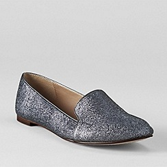 Lands' End - Grey women's vivian velvet venetian pumps