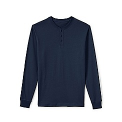 Lands' End - Blue men's long sleeve super-t henley