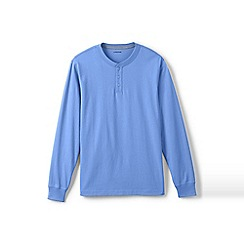 Lands' End - Blue long sleeve super-t henley