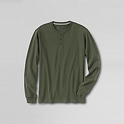 Lands' End - Green men's long sleeve super-t henley