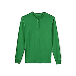 Lands' End - Green long sleeve super-t henley