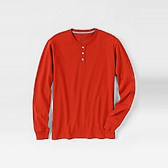 Lands' End - Orange men's long sleeve super-t henley