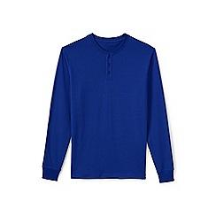 Lands' End - Blue long sleeve henley super t-shirt