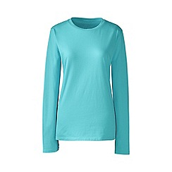 Lands' End - Blue petite supima long sleeved crew neck tee