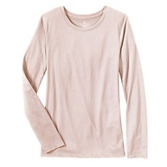 Lands' End - Pink women's supima long sleeved crew neck tee