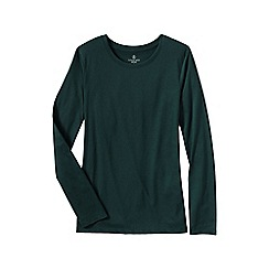 Lands' End - Green women's supima long sleeved crew neck tee