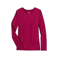 Lands' End - Pink petite supima long sleeved crew neck tee