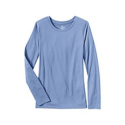 Lands' End - Blue women's supima long sleeved crew neck tee
