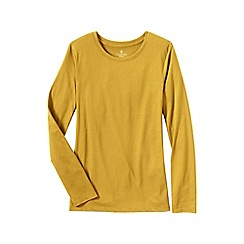 Lands' End - Gold women's supima long sleeved crew neck tee