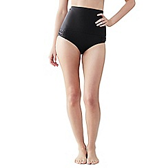 Lands' End - Black women's shape and enhance ultra high rise bikini bottoms