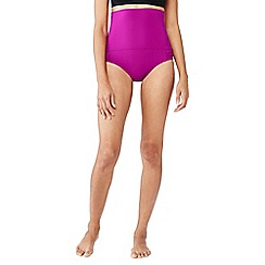 Lands' End - Purple shape and enhance ultra high rise bikini bottoms