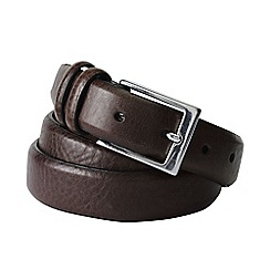 Lands' End - Brown mens feather edge belt