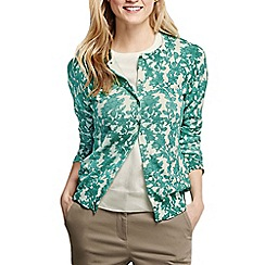 Lands' End - Blue women's long sleeve floral print supima cardigan