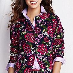 Lands' End - Multi women's long sleeve floral print supima cardigan