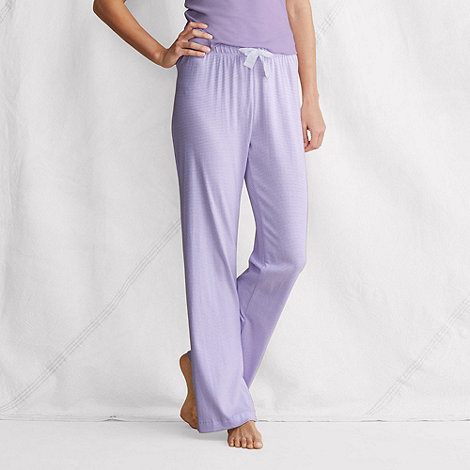 Lands+ End - Purple women+s striped pyjama bottoms