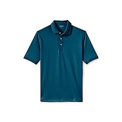 Lands' End - Blue  short sleeve supima banded sleeve polo