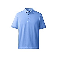Lands' End - Light blue short sleeve supima banded sleeve polo