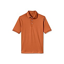 Lands' End - Orange short sleeve supima banded sleeve polo