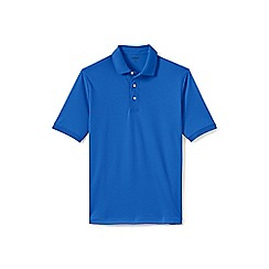 Lands' End - Blue short sleeve supima banded sleeve polo