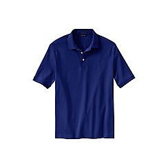 Lands' End - Blue men's  short sleeve supima banded sleeve polo