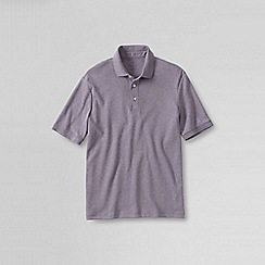 Lands' End - Purple men's  short sleeve supima banded sleeve polo