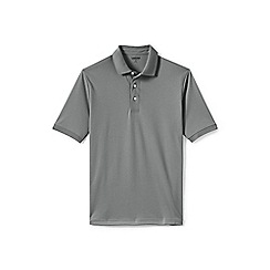 Lands' End - Grey short sleeve supima banded sleeve polo shirt