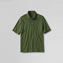 Lands' End - Green men's  short sleeve supima banded sleeve polo