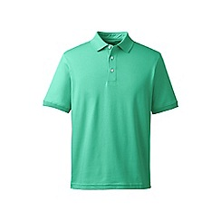 Lands' End - Green short sleeve supima banded sleeve polo