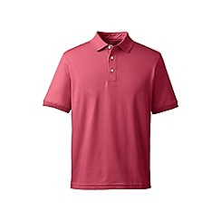Lands' End - Pink short sleeve supima banded sleeve polo