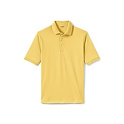 Lands' End - Yellow short sleeve supima banded sleeve polo